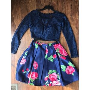 A beautiful two- piece special event dress
